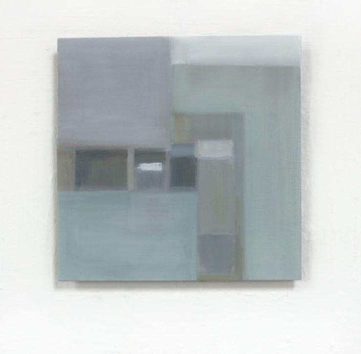 FRAME, 2020,oil on aluminium 15cm x 15cm